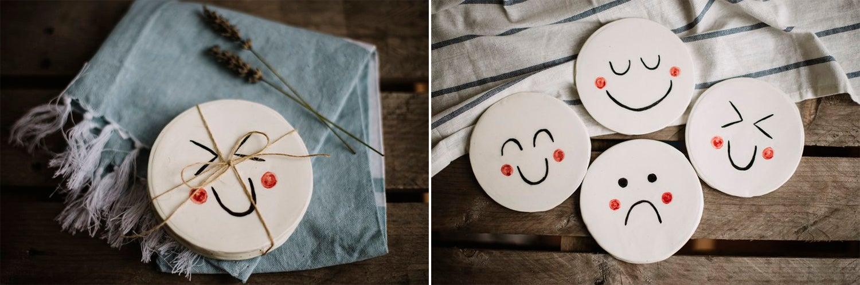 Image of Posavasos de cerámica, 3 modelos