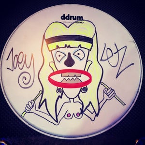 Image of Neutered Nancy custom drum head by Joe Letz