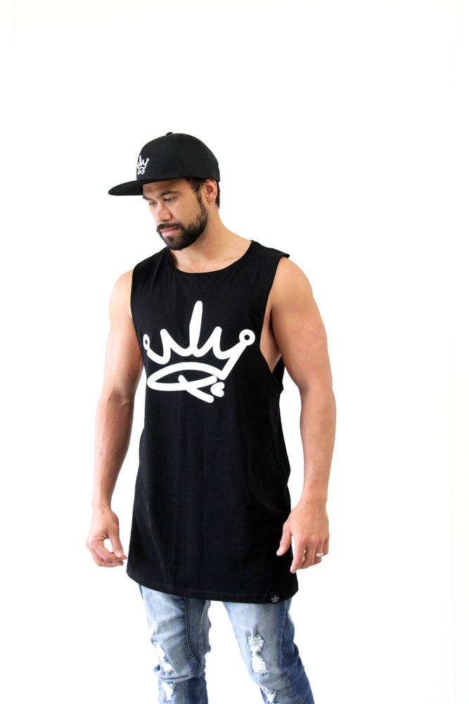 Image of ROYALTY TANK SINGLET - BLACK
