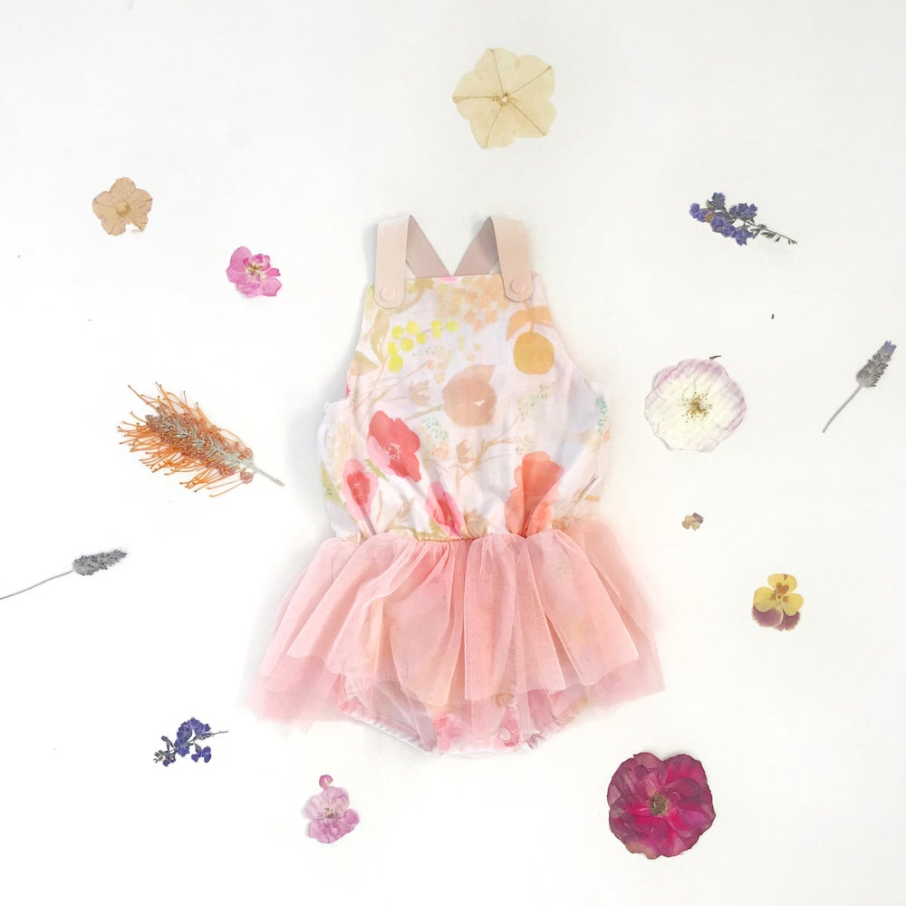 Image of girl gauze halo tutu playsuit   sugar pink