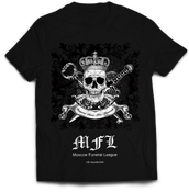 Image of MOSCOW FUNERAL LEAGUE black t-shirt MFL-TS1
