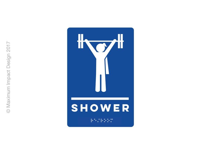 Image of Unisex Lifter Braille ADA Signage