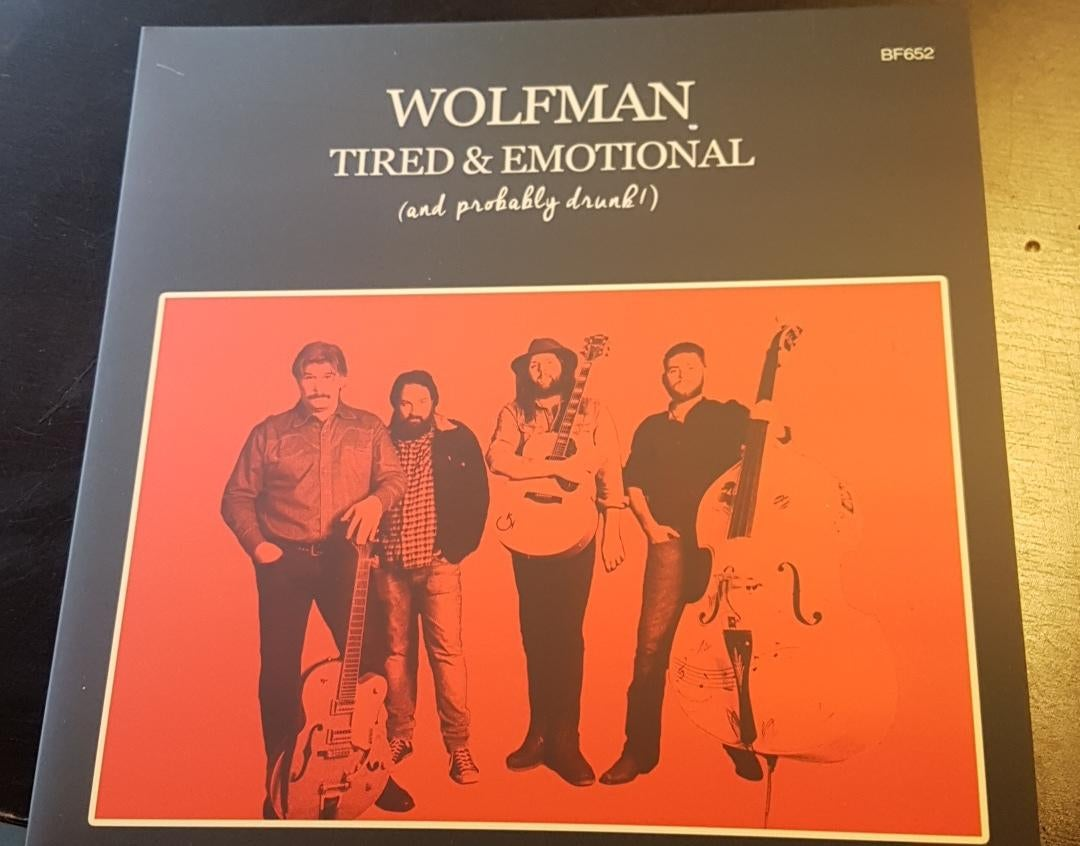 "Image of Wolfman LP ""Tired & Emotional"" 2017 + Free Stickers!"