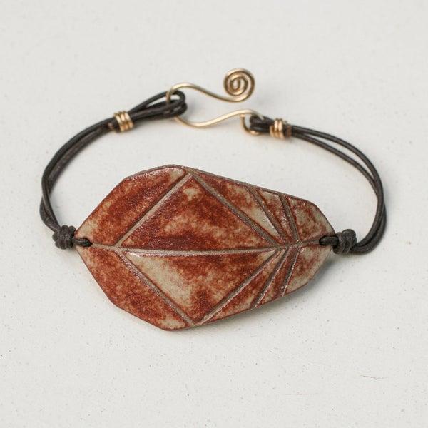 Image of Geometric Feather Bracelet