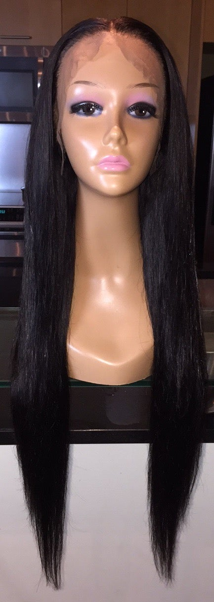 """Image of Indian Straight 24"""" Custom Lace Frontal Wig!"""