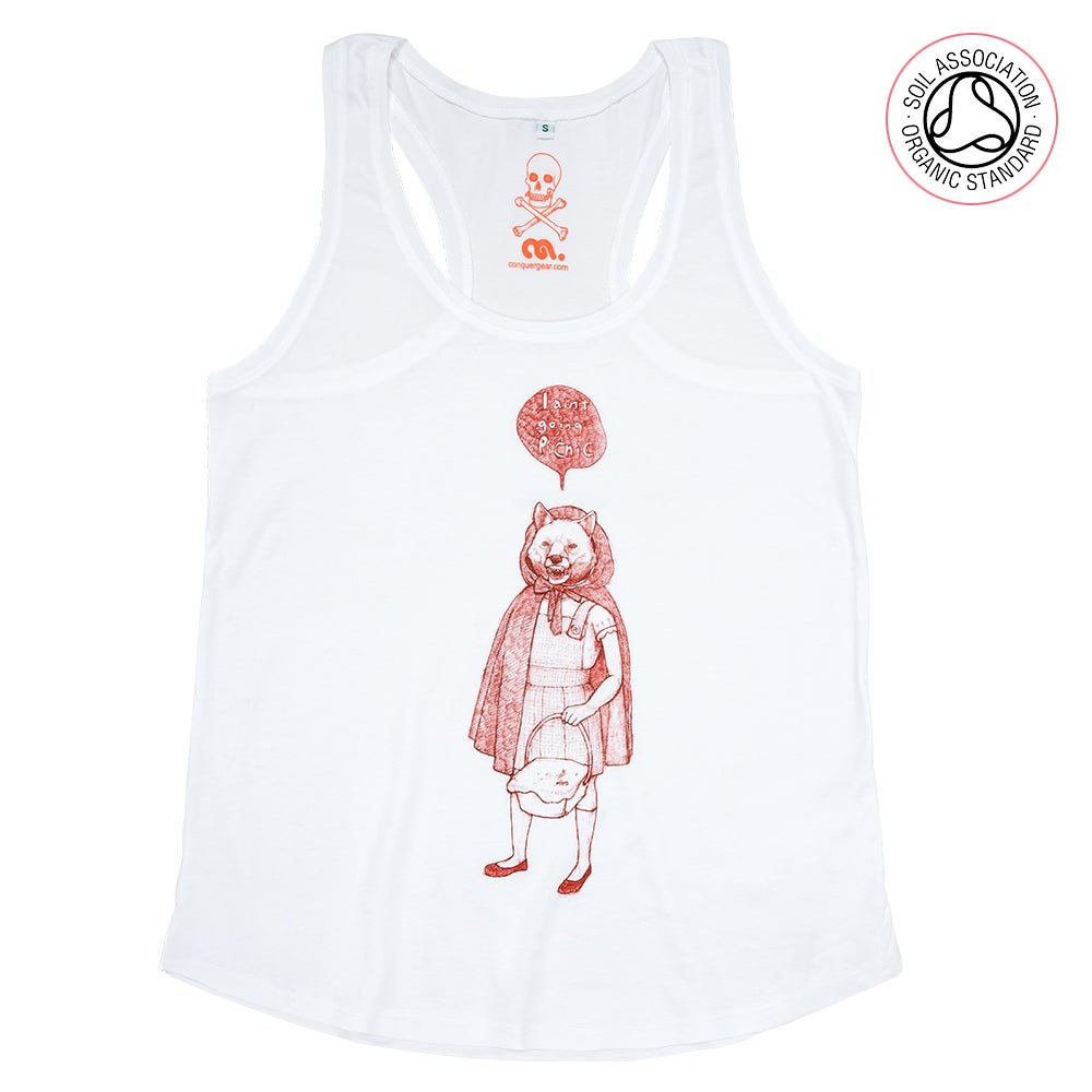 Image of RedHood Girls White Racerback Tank (Organic)