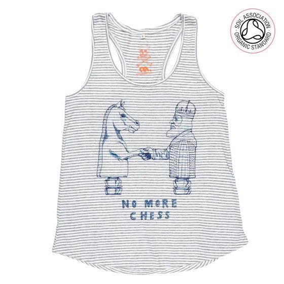 Image of No More Chess Girls Melange Striped Racerback Tank (Organic)