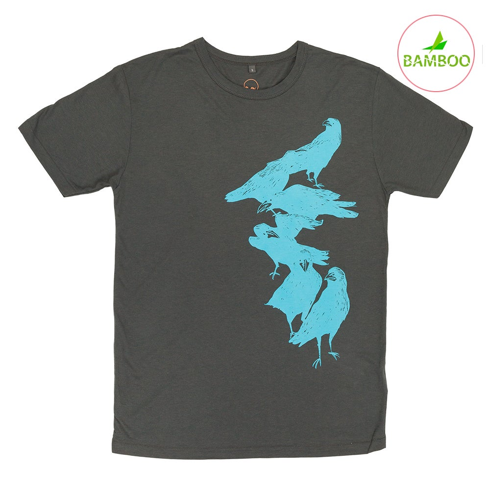 Image of Crow Charcoal T-shirt (Organic Bamboo)