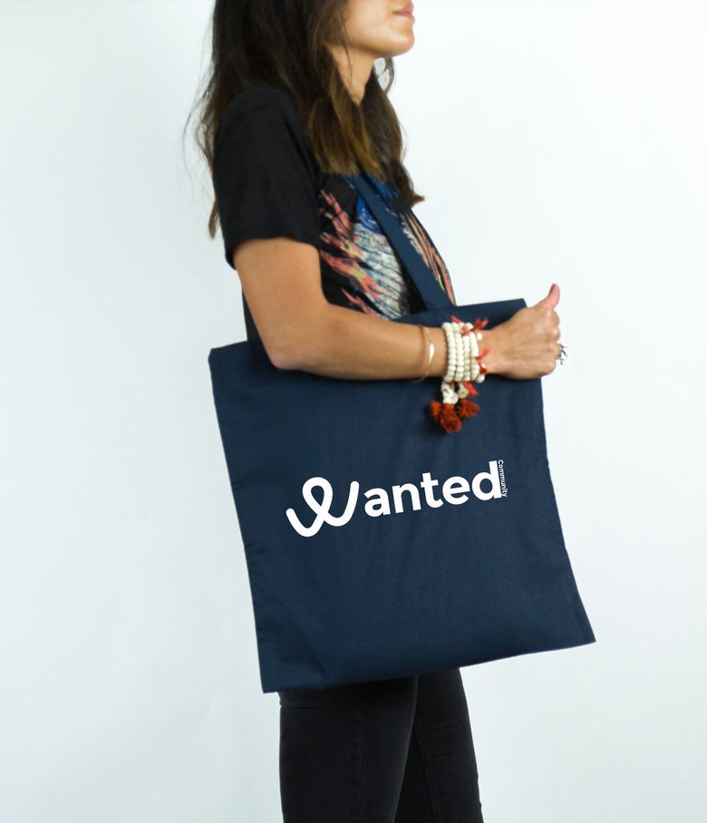 Image of Le Classique Wanted Community (Navy Tote Bag)