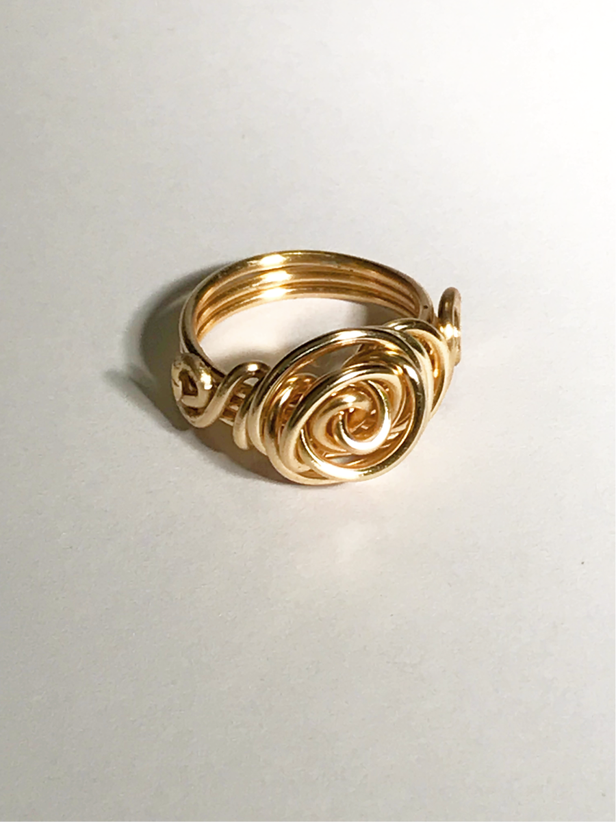 Image of Copper Wire Rose Ring.