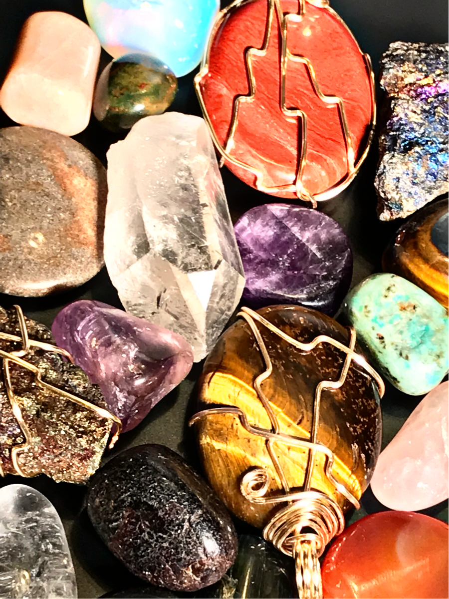 Image of Custom Wire Wrapped Crystals