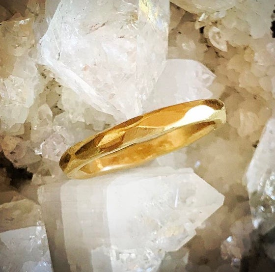Image of Multifaceted Gold ring