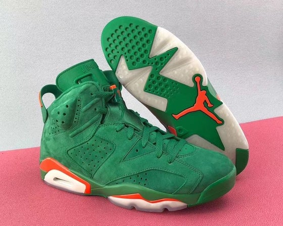 "Image of Authentic Air Jordan 6 ""Gatorade"" Add to Favorites SKU : Authentic Air Jordan 6 ""Gatorade"