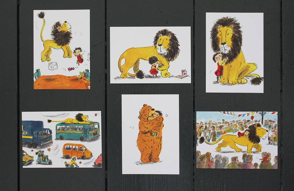 Image of How to Hide a Lion postcards