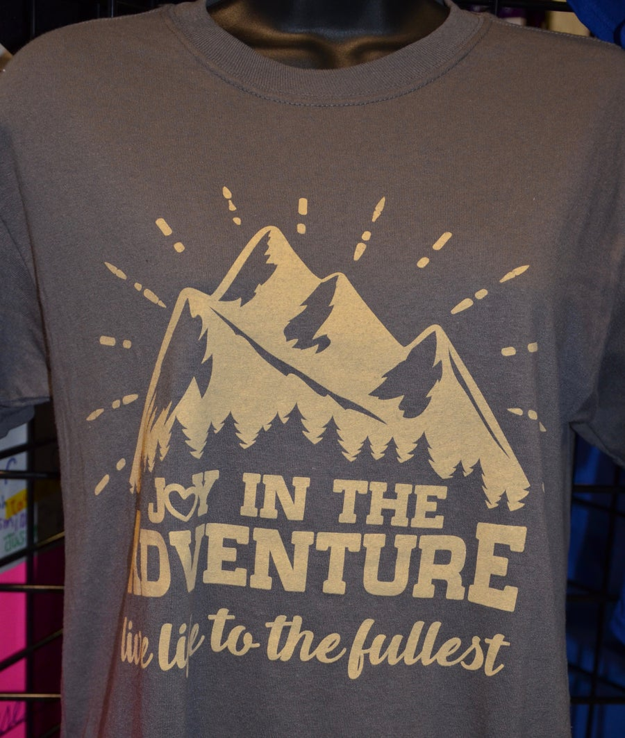 Image of Joy In The Adventure Logo T-Shirt BROWN