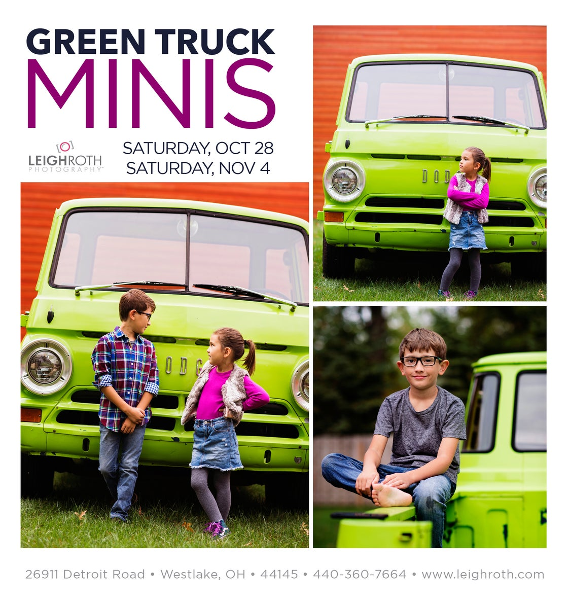 """Image of Green Truck """"Charlie"""" Mini Sessions"""