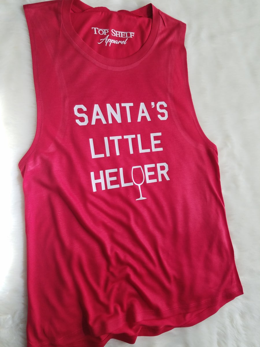 Image of Santa's Little Helper | poly muscle tank
