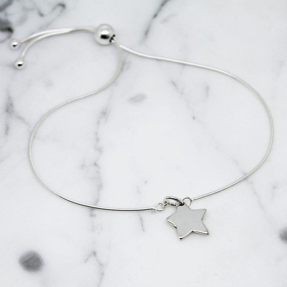 Image of Little Star Sterling Silver Slider Bracelet