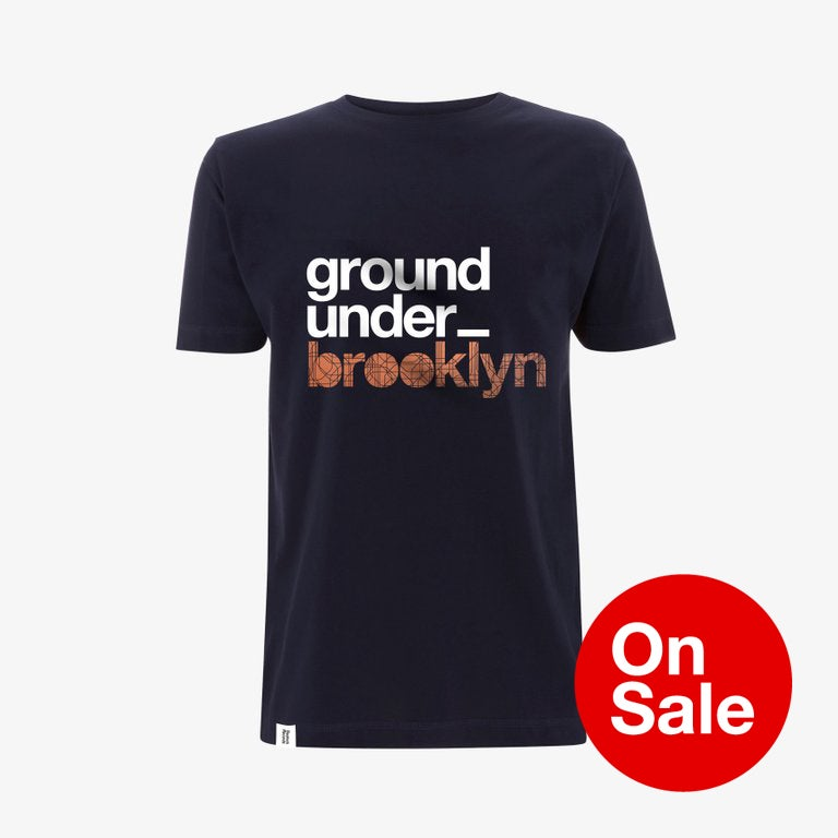 Image of Bedrock Underground Brooklyn T-Shirt in Navy