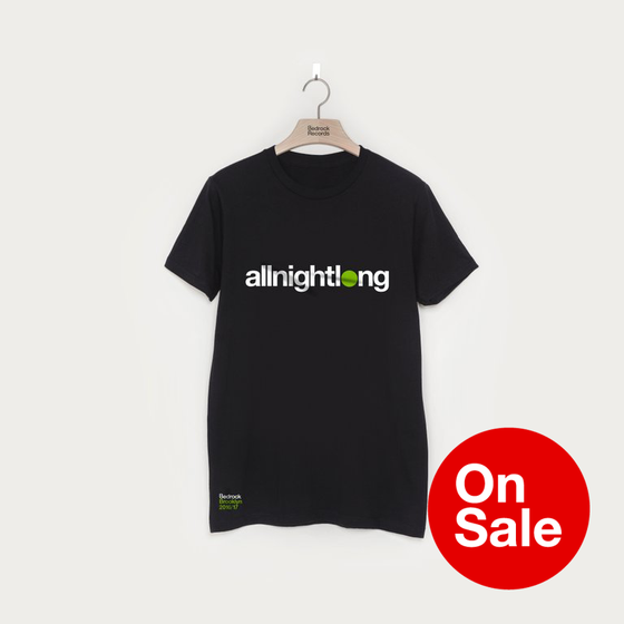 Image of Bedrock allnightlong Brooklyn NYE t-shirt in Black