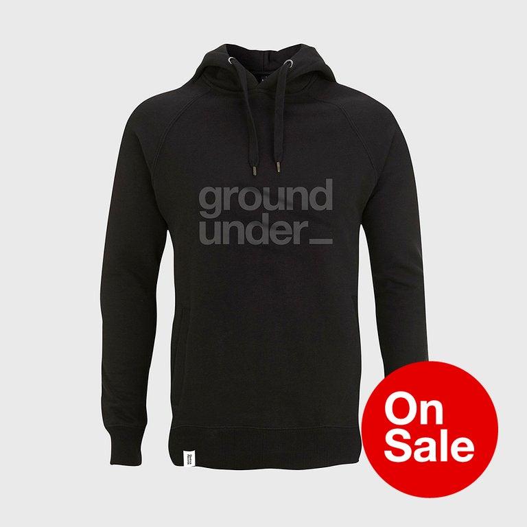 Image of Bedrock Underground Pullover Hooded Top in Black