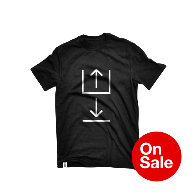 Image of Upload / Download T-shirt in Black