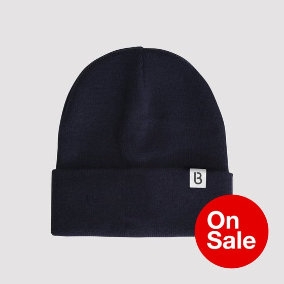 Image of Bedrock Re:Structured Cuff Beanie in Navy