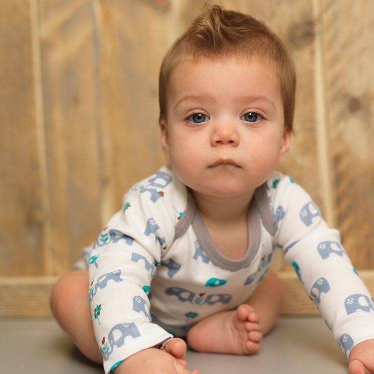 Image of Organic Long Sleeve Baby Body