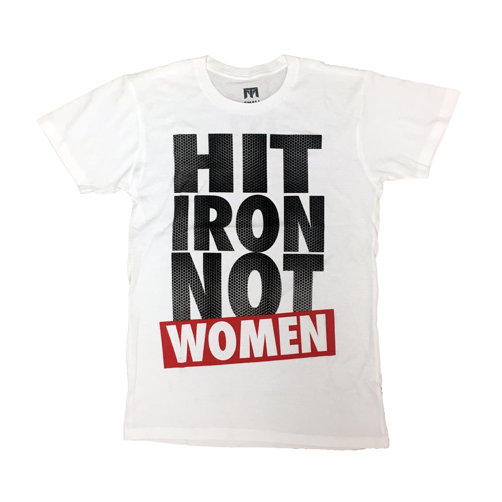 Image of Hit Iron Not Women T (White/Red)
