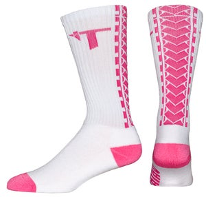Image of Tatau TS-01 White/Pink Socks