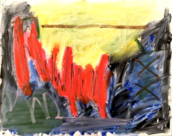 """Image of """"62 dollars in tolls"""" 11x14 painting, 2017"""