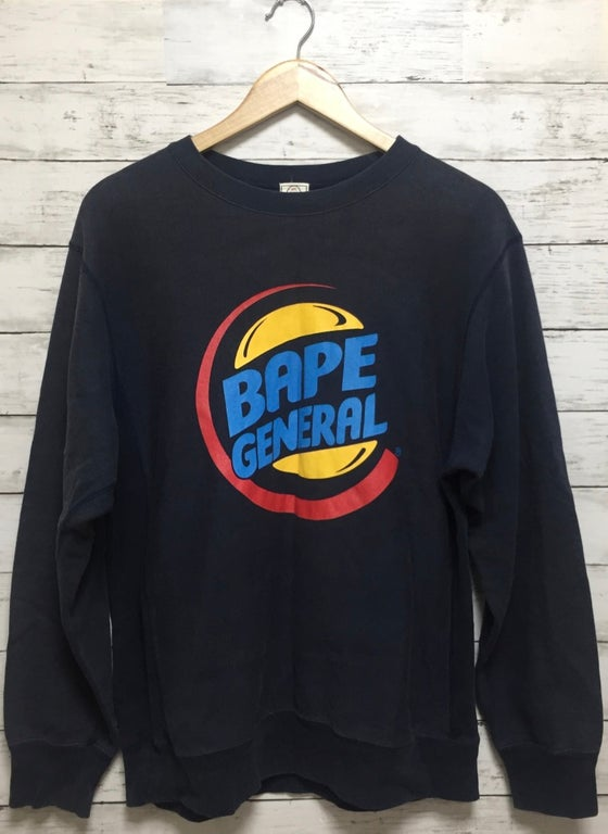 "Image of Bape ""Burger King"" Logo Vintage Sweatshirt"