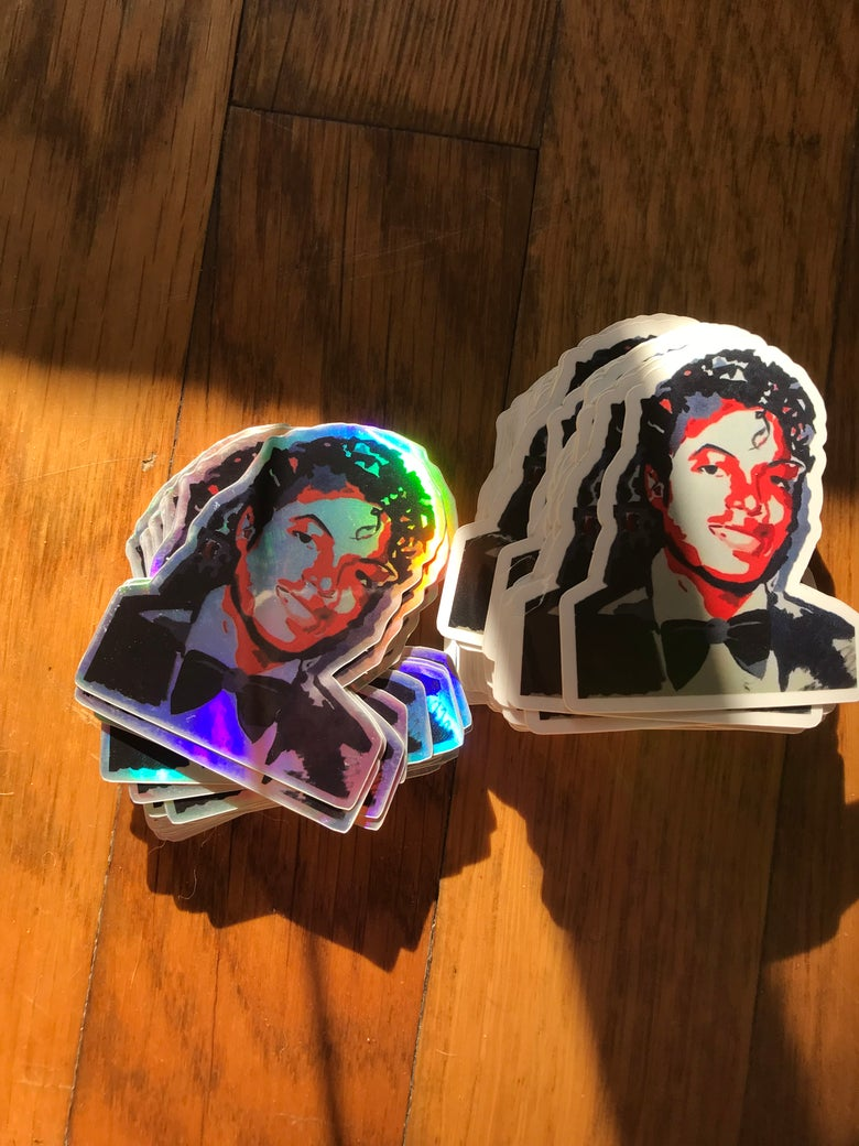 Image of Holographic young Micheal Jackson - Sticker pack
