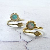 Image of Aurora - Opal Wrap Ring in Gold or Silver