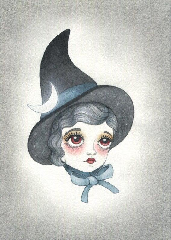 Image of Original Artwork: Night Sky Witch