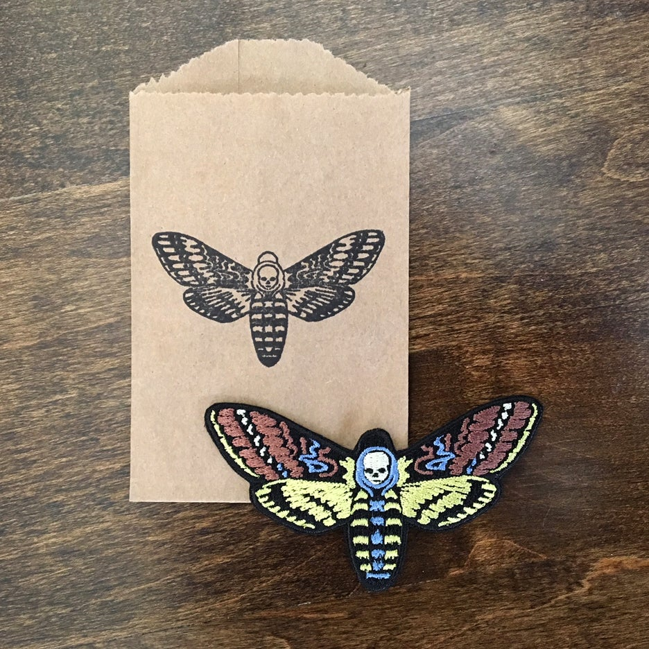 Image of Death's Head Hawk Moth patch