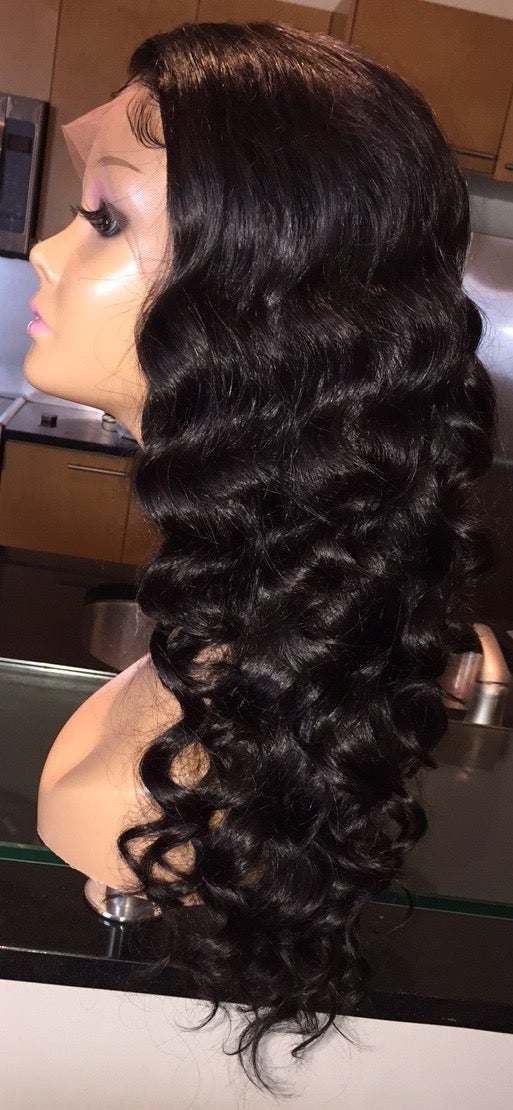 "Image of Cambodian Natural Wave 18"" Custom Lace Frontal Wig!"