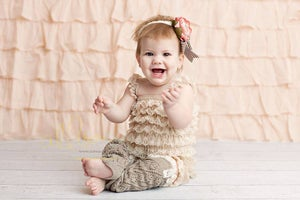 Image of Lil' Lacey Lou Leg Warmers - Vanilla Cream, Pink, Soft Grey - Toddler Girl