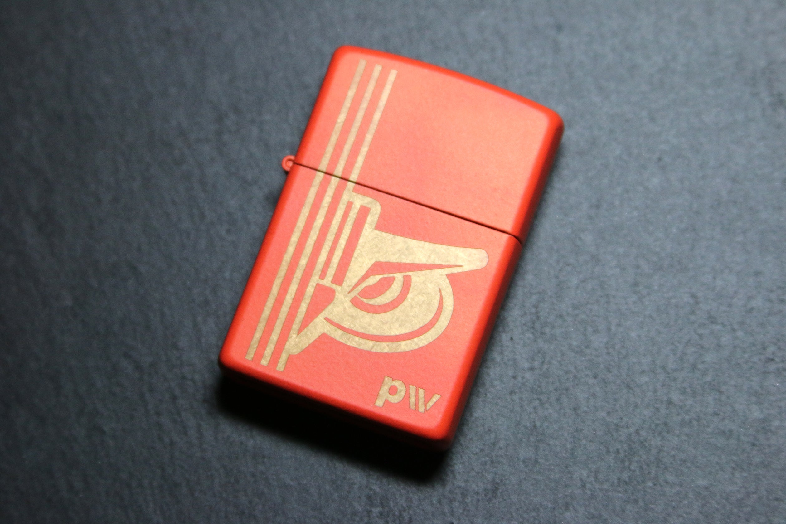 primitive watchmen sc 0 ut o w l orange copper patina zippo lighter with tin case