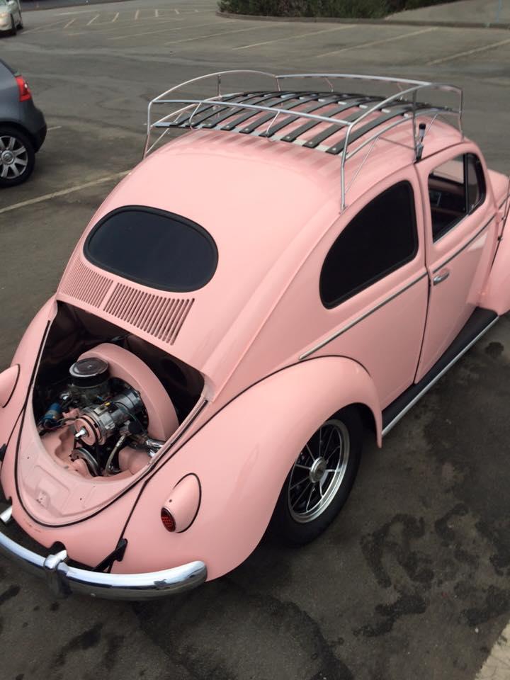 ... Image Of VINTAGE SILVER POWDER COAT VW BUG ROOF RACK