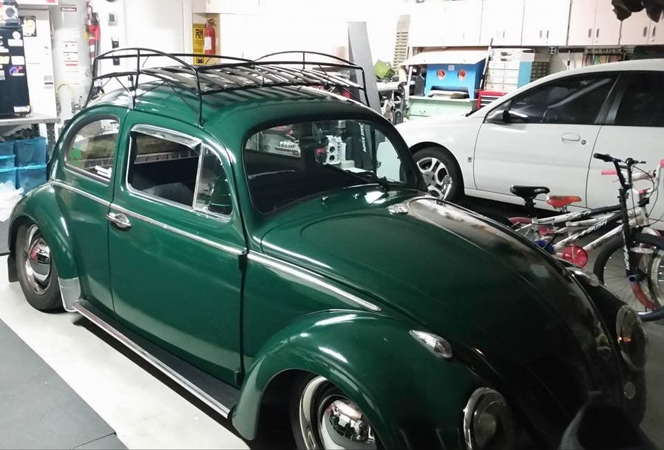 Image of BLACK POWDER COAT VW BUG ROOF RACK