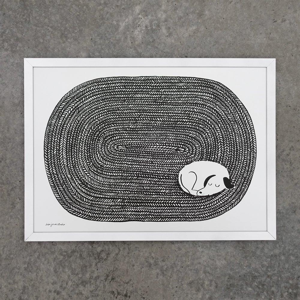 Image of Print | Dog Tired