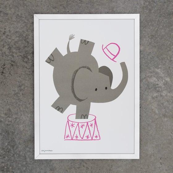 Image of Print | Circus Elephant