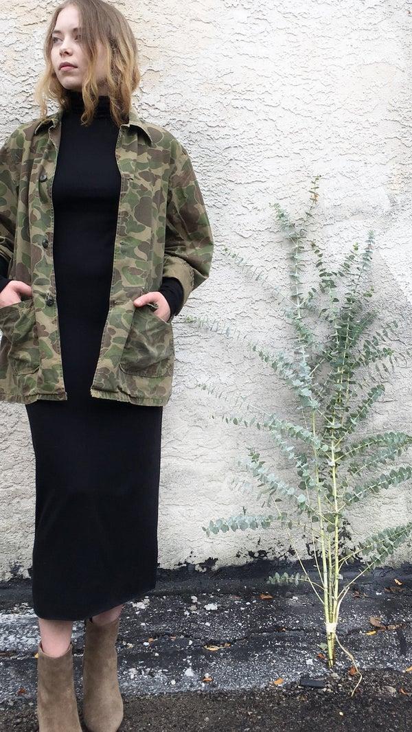 Image of Corinne Mimi Turtleneck Dress Black