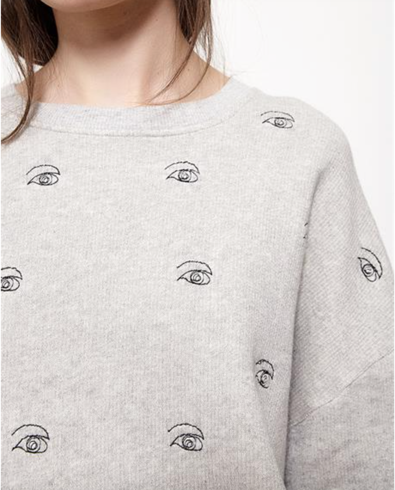 Image of Sweat AUGUSTIN gris chiné oeil 95€ -50%