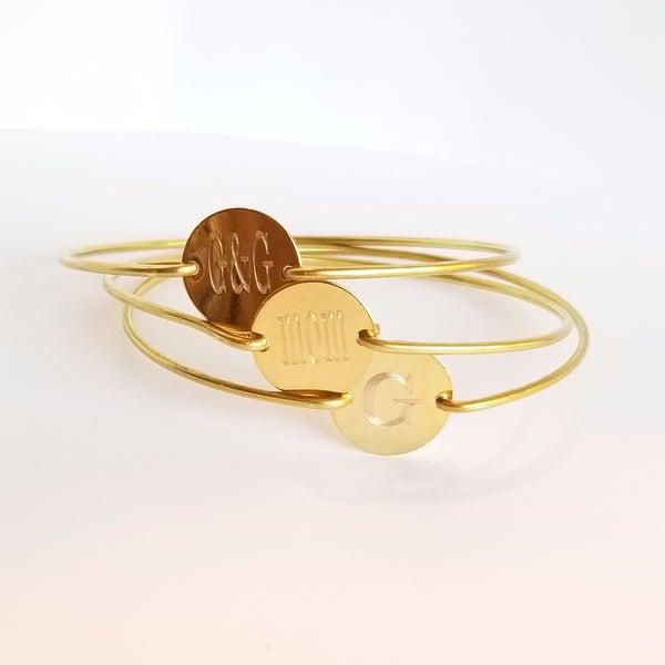 Image of Gold Circle Bangle