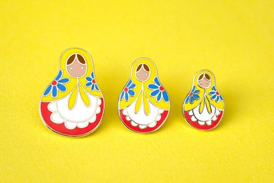 Image of Matryoshka Pins (Set of 3 or individual)
