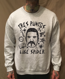 Image of TRES PUNTOS LIKE SPIDER GREY SWEATER