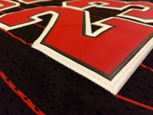 Image of Chicago Bulls Jordan #23 Pinstripe Retro Swingman Nike NBA Jersey