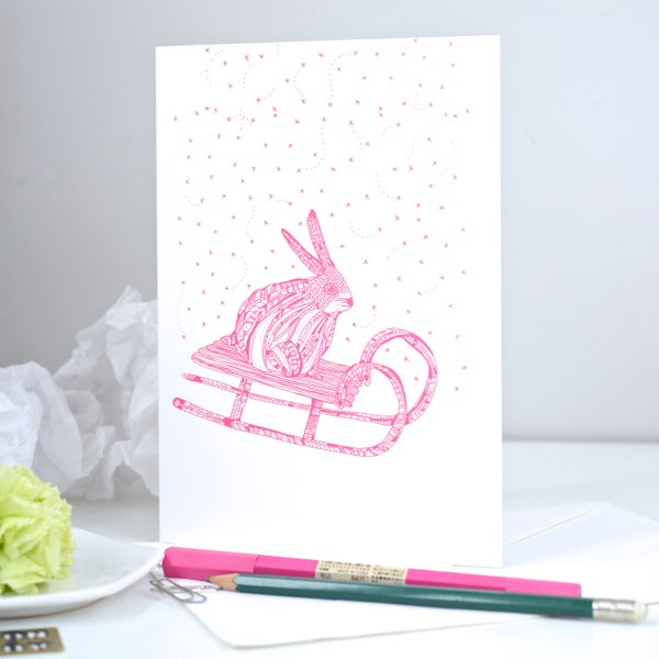 Image of *Rabbit* Greeting card A5